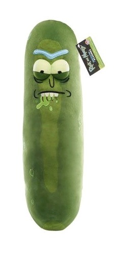 "Rick & Morty: Pickle Rick 18"" Plush - Biting Lip"