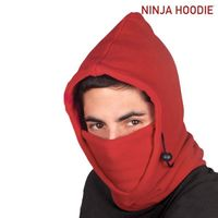 Ninja Hoodie Multipurpose Hood-Rojo