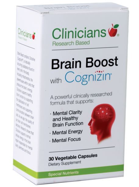 Clinicians Brain Boost with Cognizin (30 Capsules)