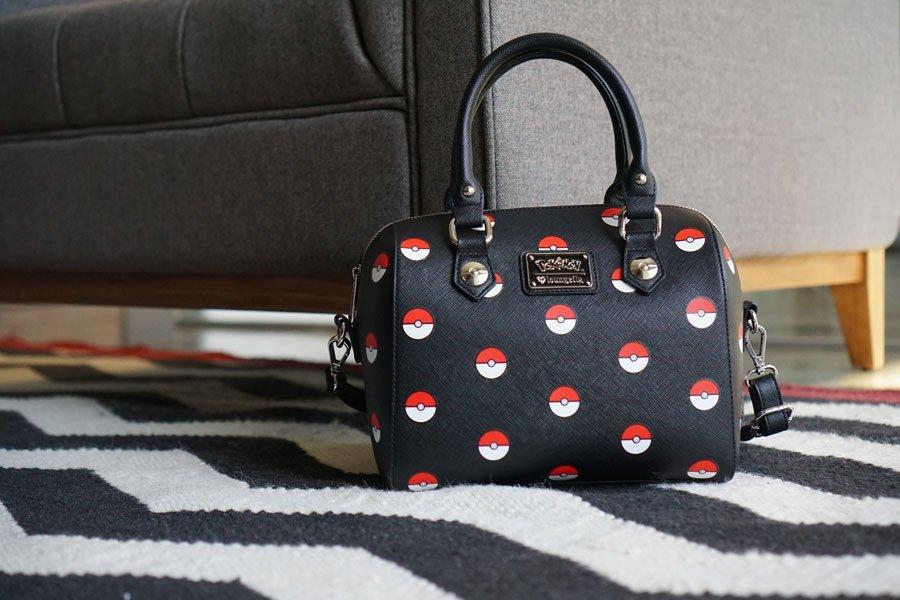Loungefly Pokemon Pokeball Print Duffle Bag image
