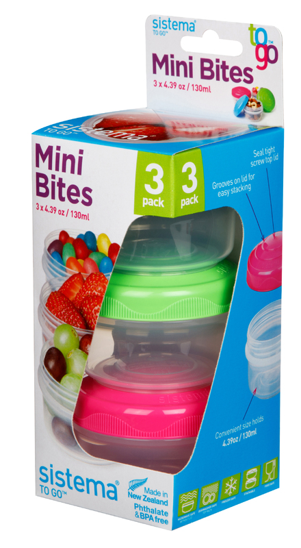 Sistema To Go Mini Bites - 3 Pack (130ml)