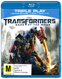 Transformers 3: Dark of the Moon BD / DVD / Digital on DVD, Blu-ray, DC