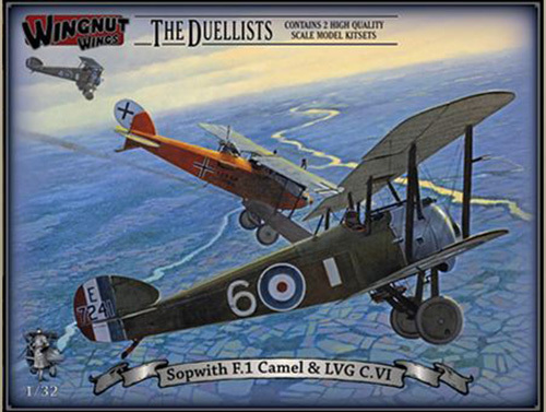 "Wingnut Wings 1/32 Sopwith F.1 Camel & LVG C.VI ""The Duellists"" Model Kit image"