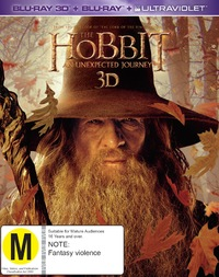 The Hobbit: An Unexpected Journey on Blu-ray, 3D Blu-ray, UV