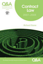 Contract Law Q&A by Richard Stone image