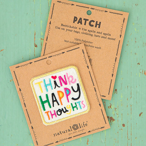 Natural Life: Restickable Patch Fabric - Happy Thought