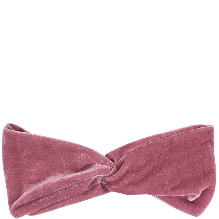 Simply Essential Velvet Cosmetic Turban - Pink image