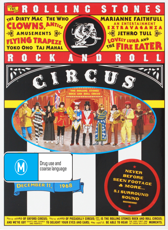 Rolling Stones: Rock & Roll Circus on DVD
