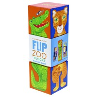 Crocodile Creek: Flip Zoo 3pcs Magnetic Block Puzzle - Rainforest Animals