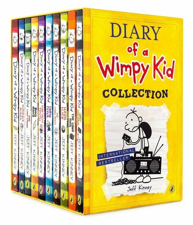Diary Of A Wimpy Kid – 10-Book Collection by Jeff Kinney