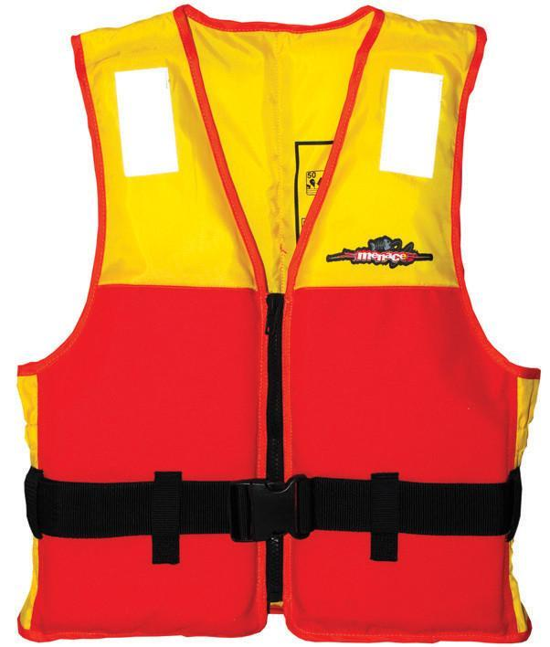 Menace Hercules Sports Life Jacket Adult | Size: Medium (Yellow/Red) image
