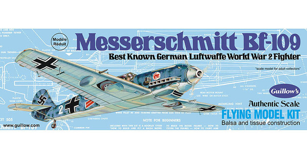 Messerschmitt BF-109 1/30 Balsa Model Kit