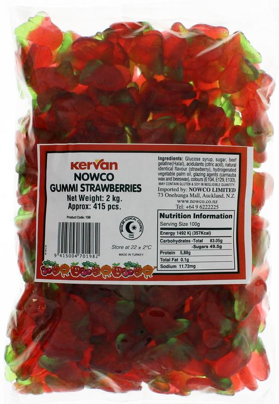 Kervan Gummi Strawberries (2kg)