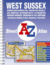 West Sussex Street Atlas by Geographers A-Z Map Company image