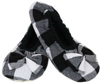 Slumbies White Women's Plaid Slippers (M)