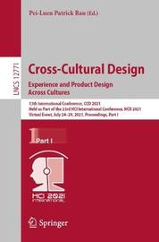 Cross-Cultural Design. Experience and Product Design Across Cultures