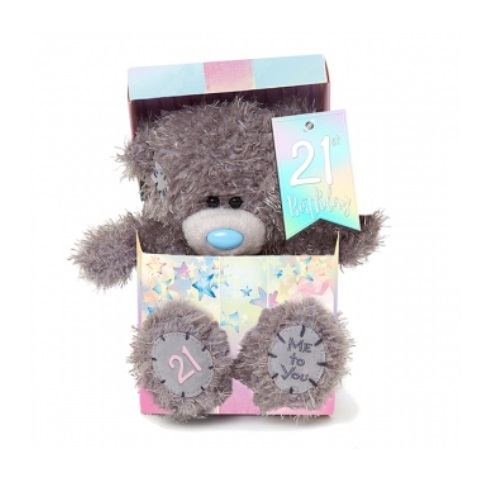 Me To You - 21st Birthday Bear In Box