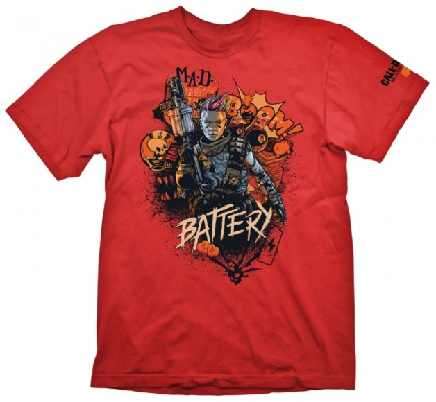 "Call of Duty: Black Ops 4 T-Shirt ""Battery Red"", XL"