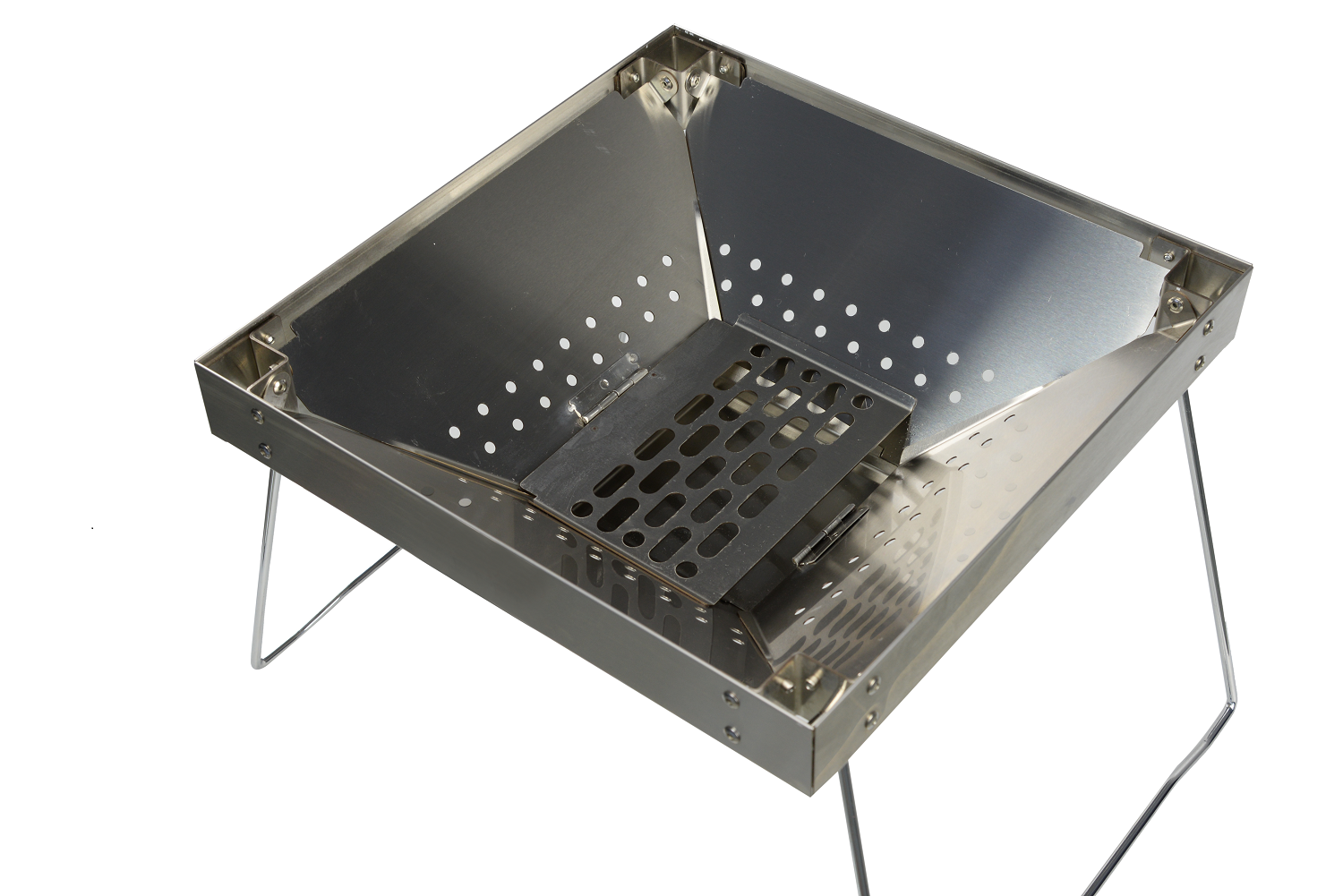 Premium Stainless Steel Portable Charcoal BBQ Grill image