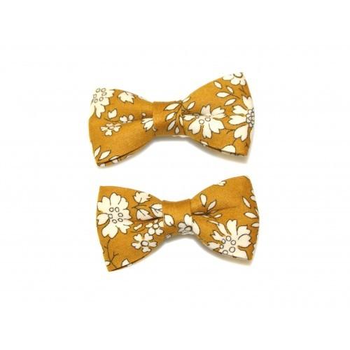 Goody Gumdrops: Liberty Capel Bow Clips - Mustard