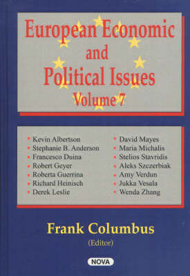 European Economic & Political Issues, Volume 7 by Frank Columbus image