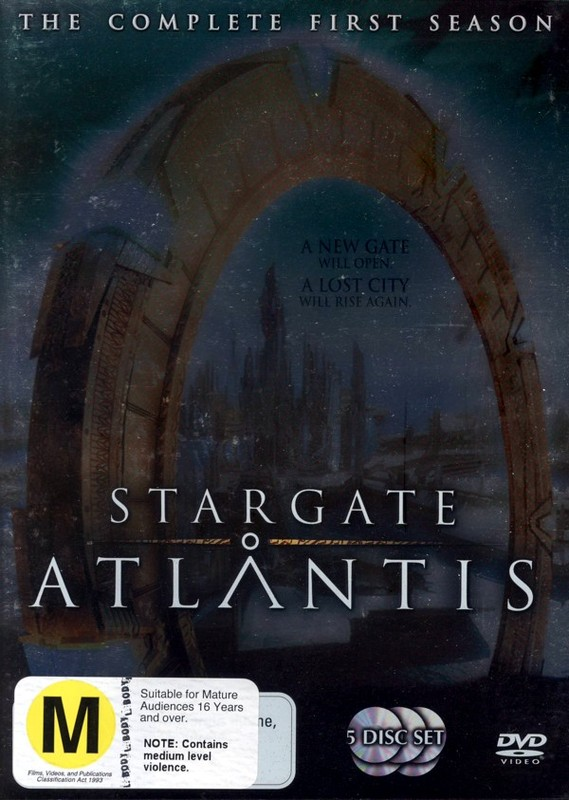 Stargate Atlantis - Complete Season 1 (5 Disc Slimline Set) (New Packaging) on DVD