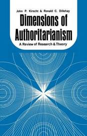 Dimensions of Authoritarianism by John P Kirscht
