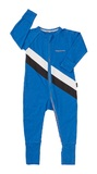 Bonds Sport Zip Wondersuit - Stripe Ultrablue (0-3 Months)