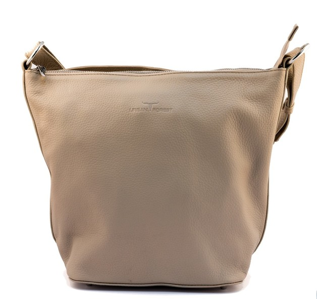 Urban Forest: Lotus Leather Handbag - Sand