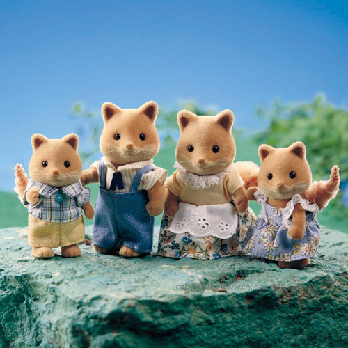 Wolf Family Toy : Sylvanian families fox family toy at mighty ape nz