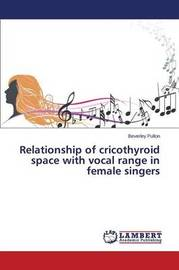 Relationship of Cricothyroid Space with Vocal Range in Female Singers by Pullon Beverley