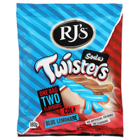 RJ's Soda Twisters - Cola & Blue Lemonade (180g) image