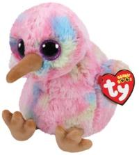 Ty Beanie Boo: Rainbow Kiwi - Small Plush