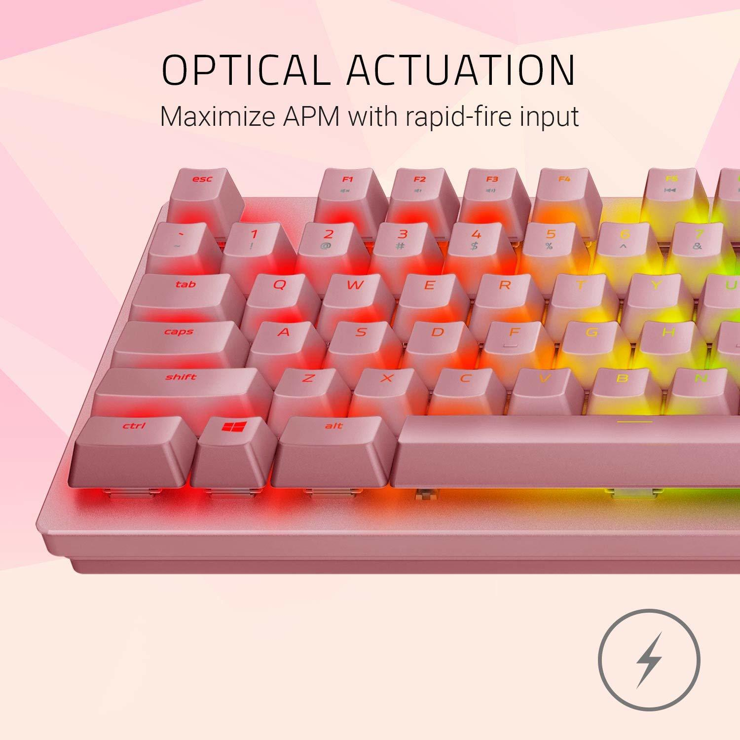 Razer Huntsman Mechanical Gaming Keyboard (Quartz) for PC image