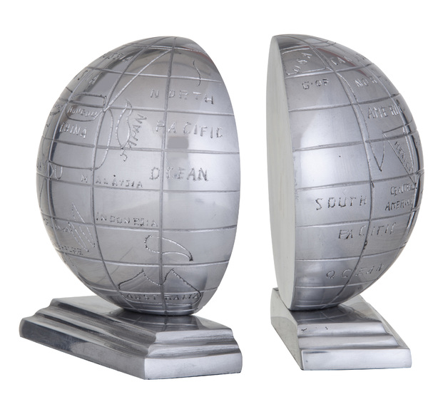 Society Home: Arc Globe Bookends 2 Set (16x16x17cm)