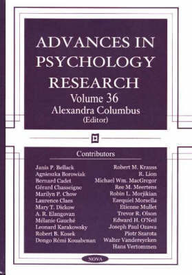 Advances in Psychology Research: Volume 36 image