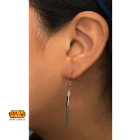 Star Wars: Blue Titanium Plated Lightsaber Earrings image