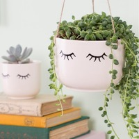 Eyes Shut - Hanging Planter
