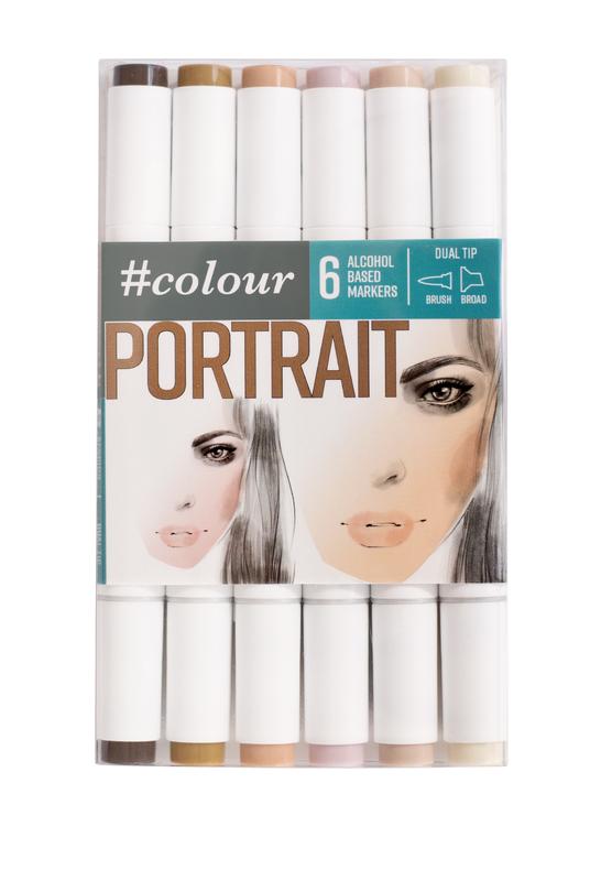 #Colour: Marker Set - Portrait (6 Pack)