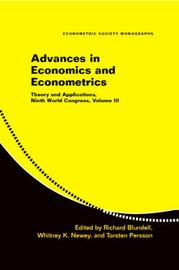Advances in Economics and Econometrics: Volume 3
