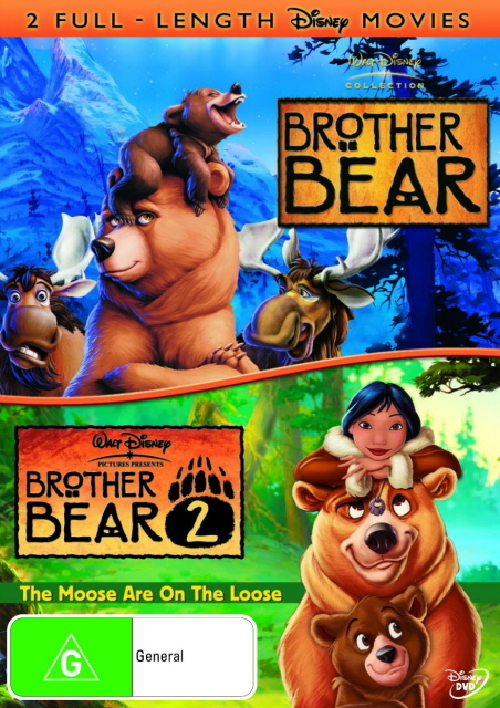 Brother Bear / Brother Bear 2 (2 Disc Set) on DVD