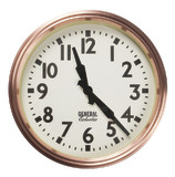 General Eclectic Retro School Clock (Copper)