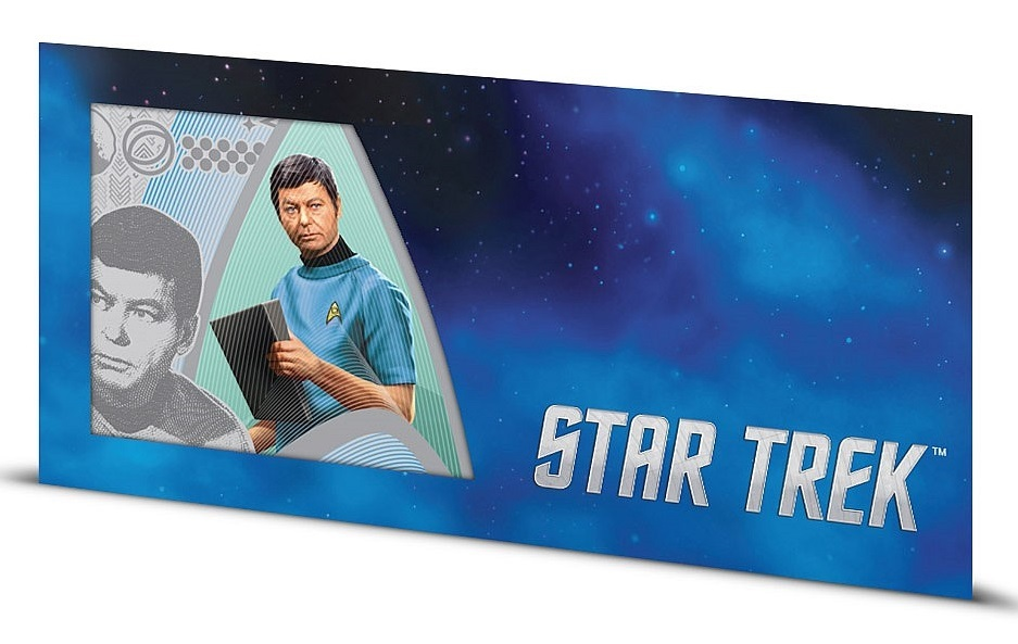 NZ Mint: Star Trek - Silver Coin Note - Dr. McCoy 2018 (5g Silver) image