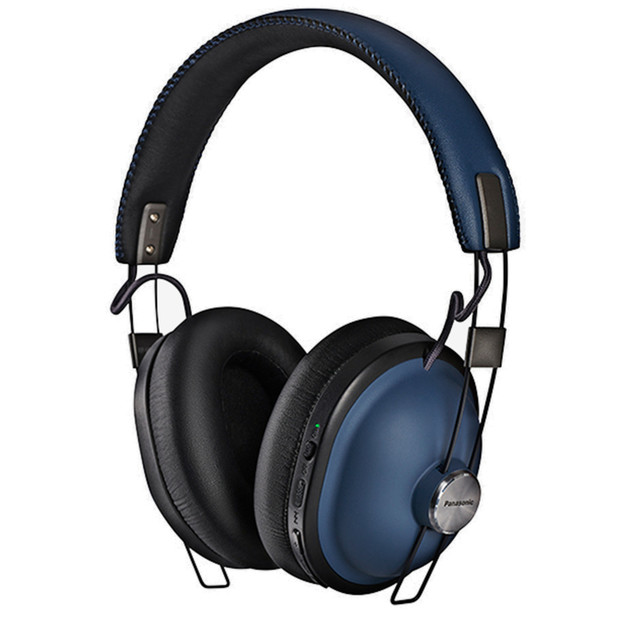 Panasonic RP-HTX90NE-A Retro Wireless Bluetooth Over-Ear Headphones with Active Noise Cancellation