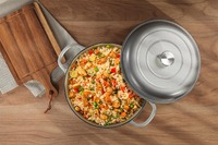Ovela: Cast Iron Shallow Casserole Dish 3.2L - Grey