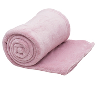 Bambury Microplush Throw Rug (Blush)