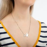 Couture Kingdom: Disney Winnie the Pooh + Piglet Necklace - Silver