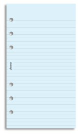 Filofax - Personal Lined Notepaper - Blue (30 Sheets)
