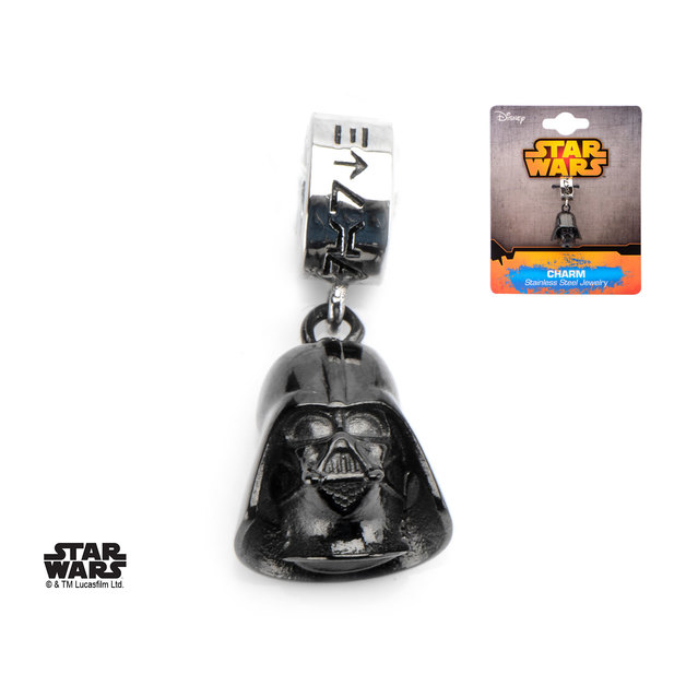Star Wars 3D Darth Vader Black Dangle Charm
