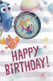Hallmark: Interactive Birthday Card - Finding Dory Bubbles